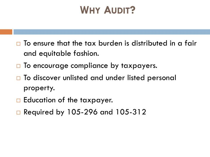 Why audit