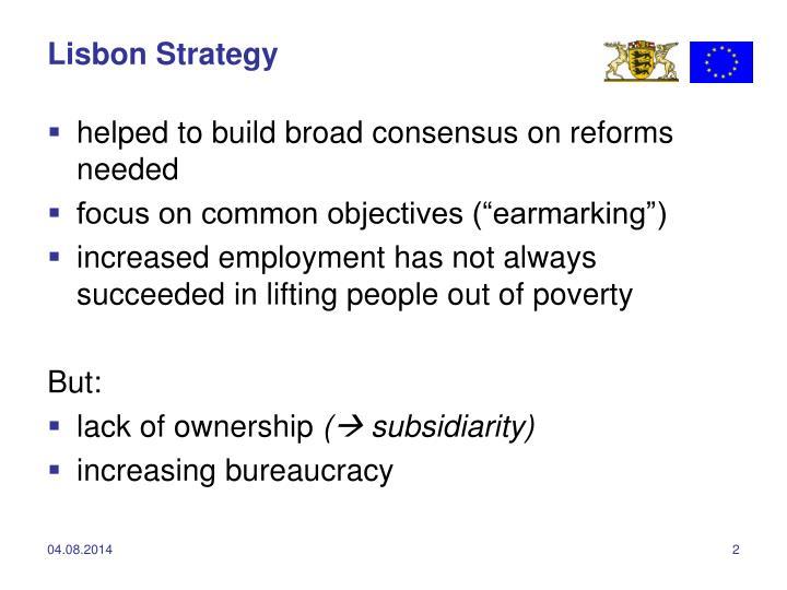 Lisbon strategy