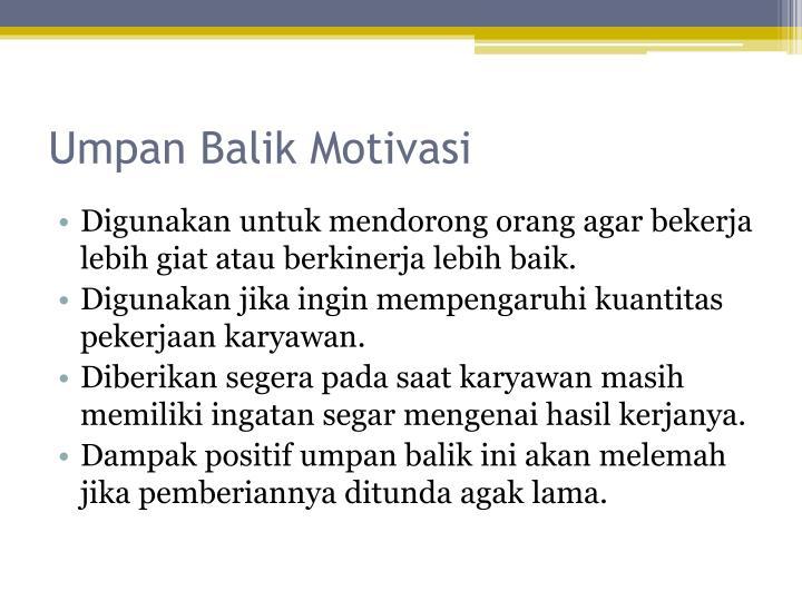 Umpan Balik Motivasi