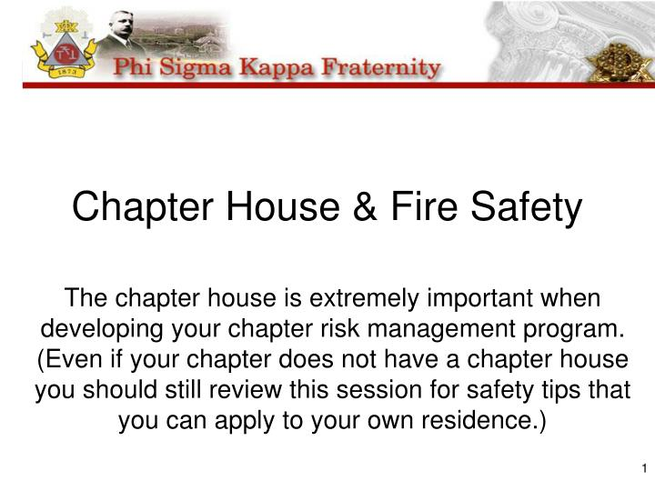 chapter house fire safety n.