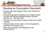 develop an evacuation document