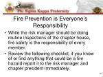 fire prevention is everyone s responsibility