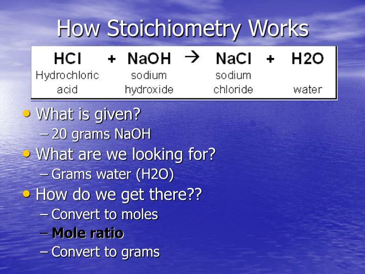 How Stoichiometry Works