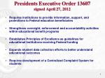 presidents executive order 13607 signed april 27 2012