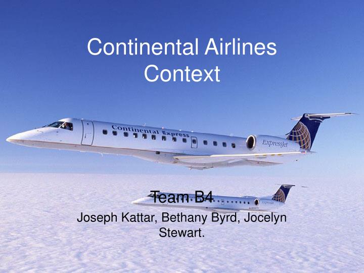 Continental airlines context