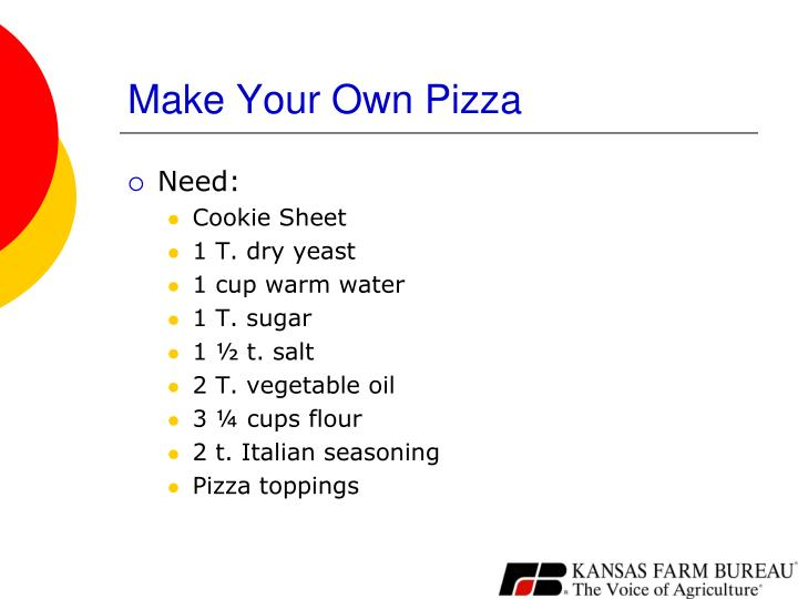 Make Your Own Pizza