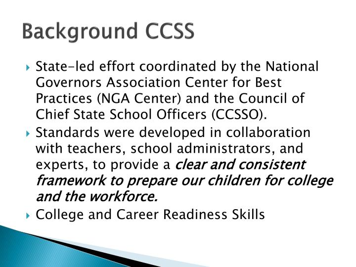 Background ccss