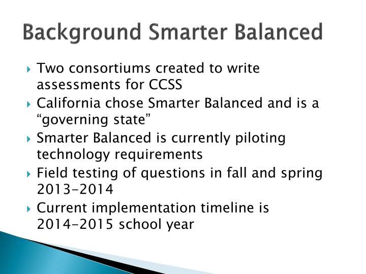 Background Smarter Balanced