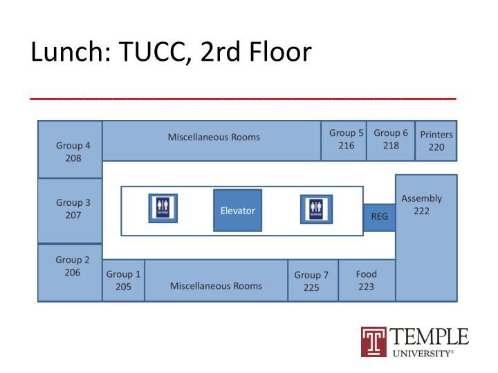 Lunch: TUCC, 2rd Floor