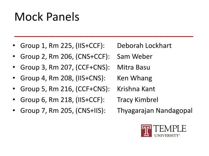 Mock Panels