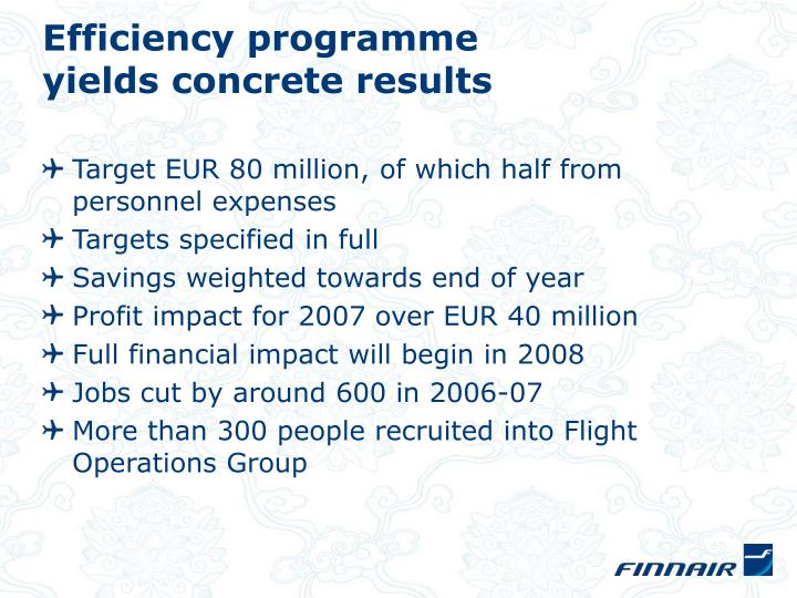 Efficiency programme