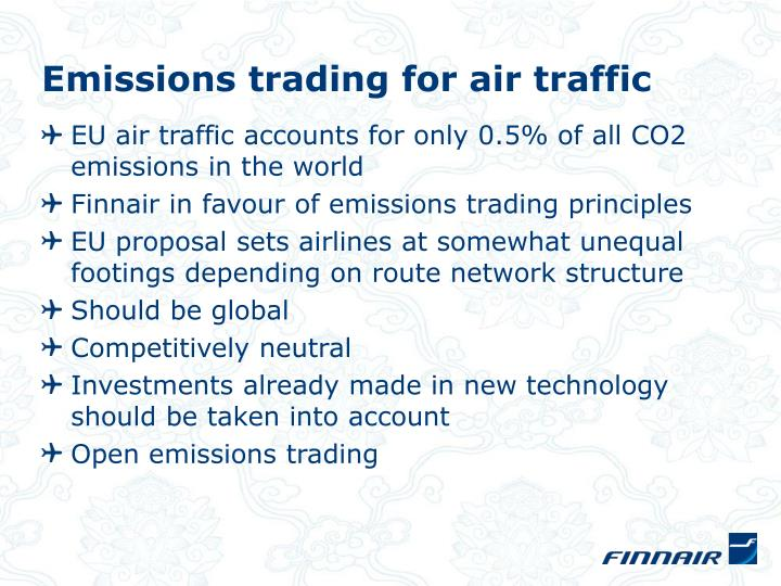Emissions trading for air traffic