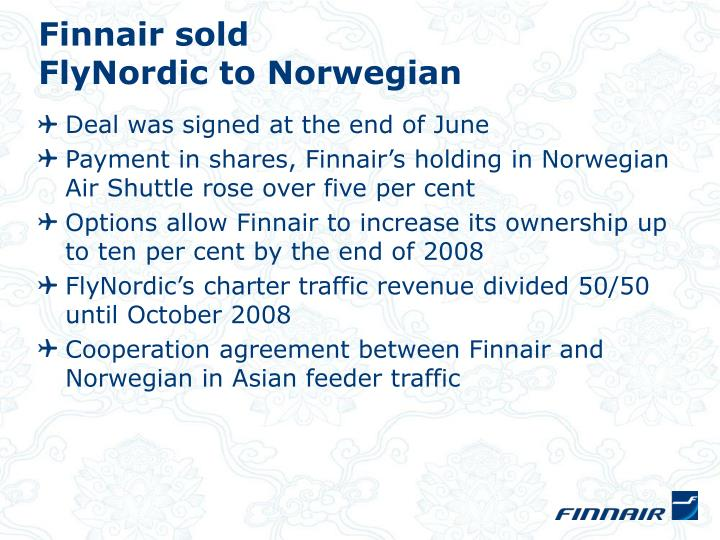 Finnair sold
