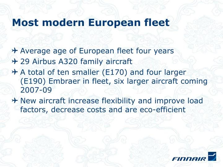 Most modern European fleet