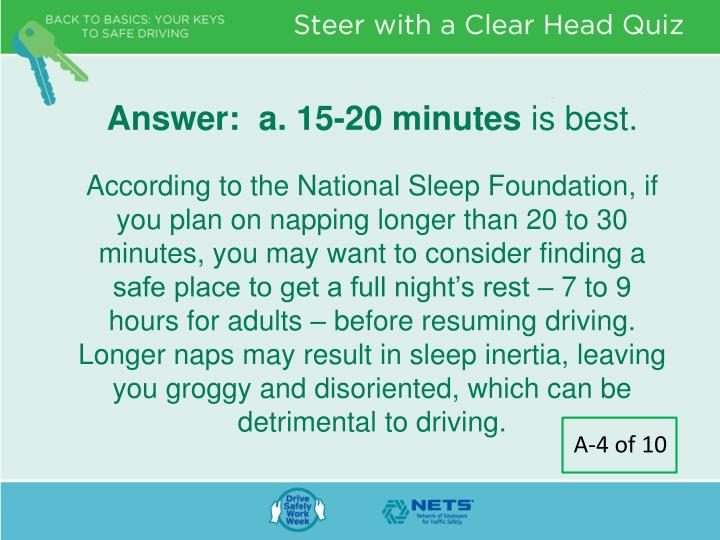 Answer:  a. 15-20 minutes
