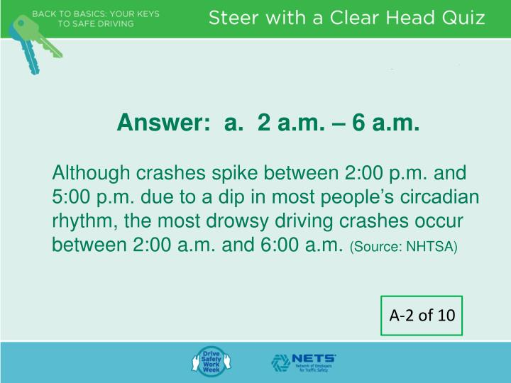 Answer:  a.  2 a.m. – 6 a.m.