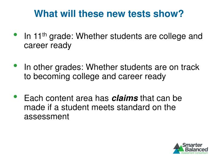What will these new tests show?
