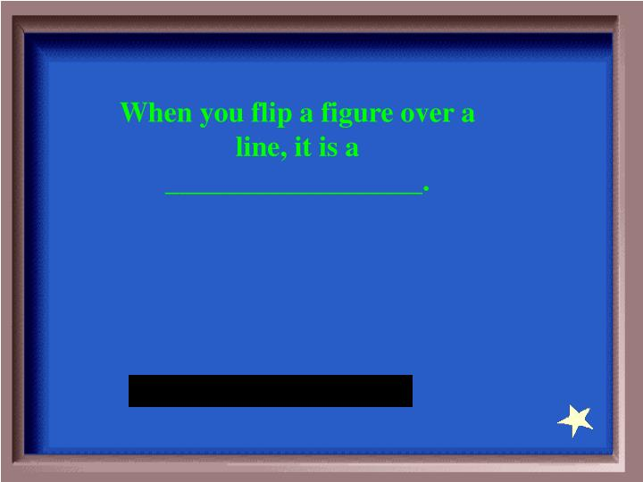 When you flip a figure over a line, it is a __________________.