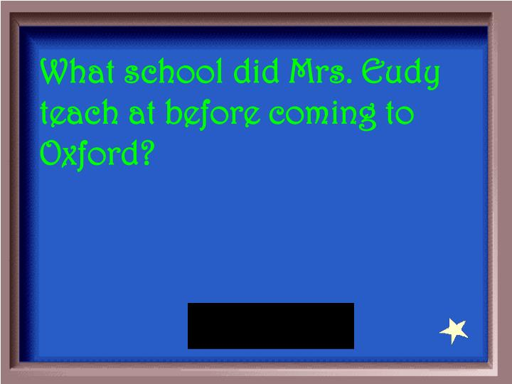 What school did Mrs. Eudy teach at before coming to Oxford?