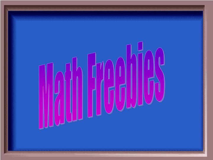 Math Freebies