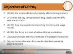 objectives of gpp 4