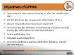objectives of gpp 6