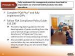 principle iv compliance