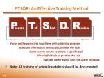 ptsdr an effective training method