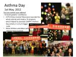 asthma day 1st may 2012