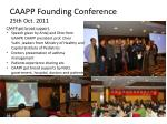 caapp founding conference 25th oct 2011