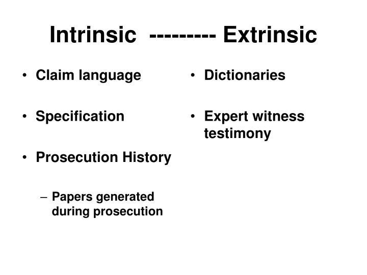 Intrinsic  --------- Extrinsic