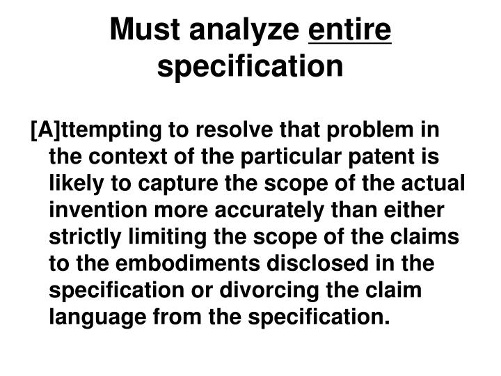 Must analyze