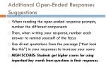 additional open ended responses suggestions