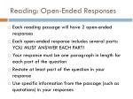 reading open ended responses