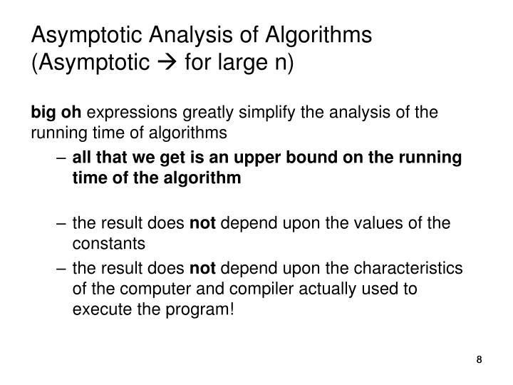 Asymptotic Analysis of Algorithms