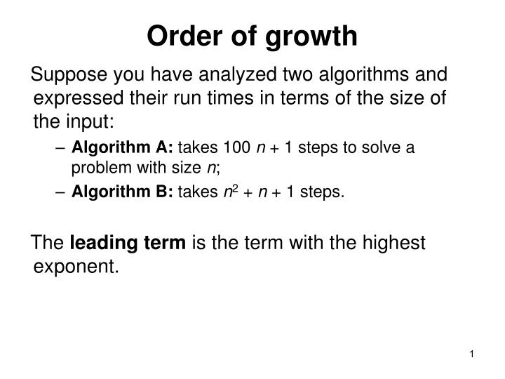 Order of growth