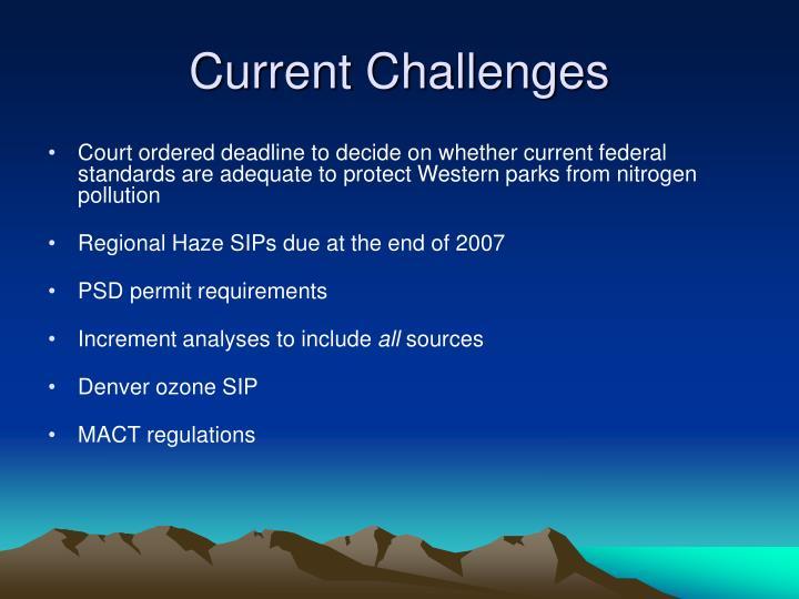 Current Challenges