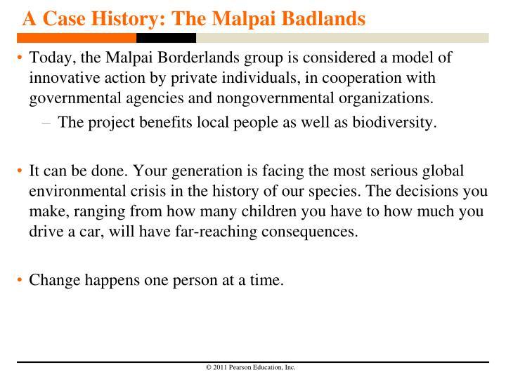 A Case History: The Malpai Badlands