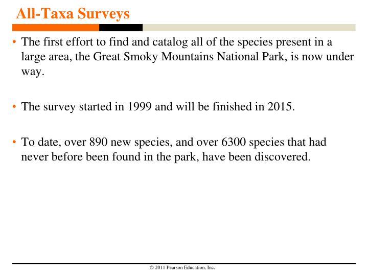 All-Taxa Surveys