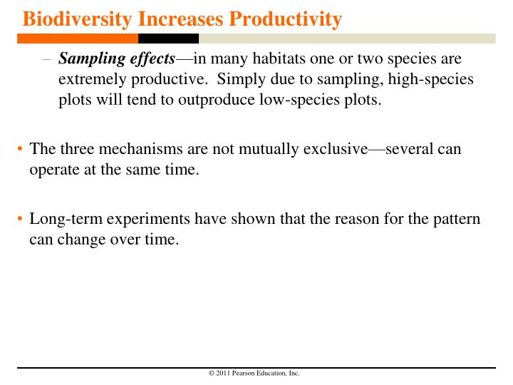 Biodiversity Increases Productivity