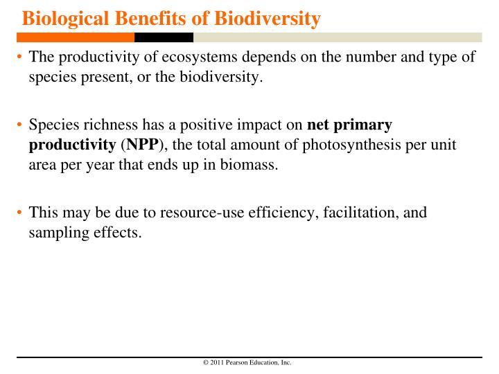 Biological Benefits of Biodiversity