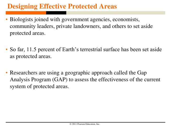 Designing Effective Protected Areas