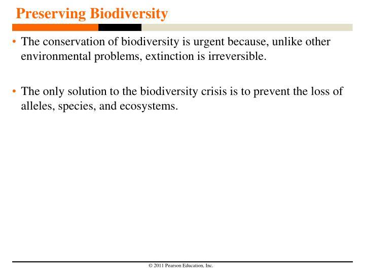 Preserving Biodiversity