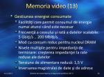 memoria video 13