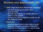 structura unui adaptor grafic 10