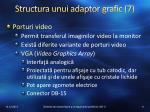 structura unui adaptor grafic 7