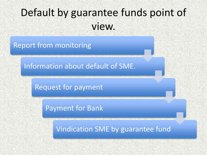 Default by guarantee funds point of view.
