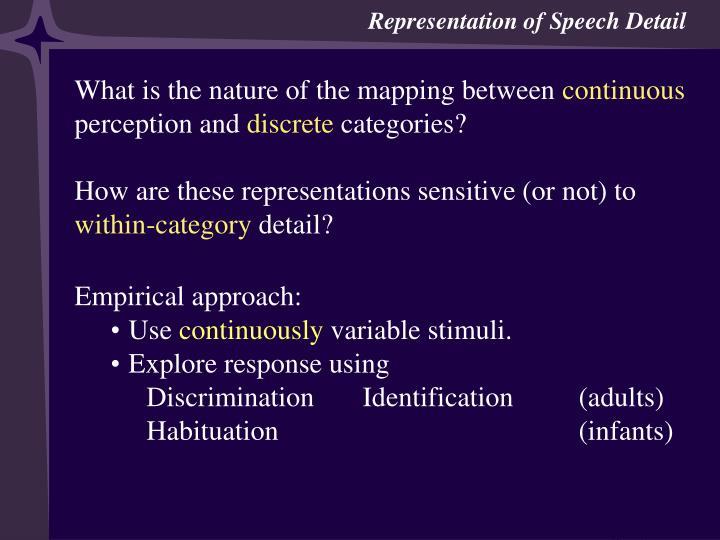 Categorization & Categorical Perception