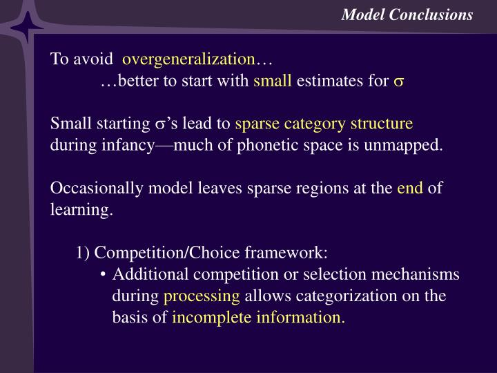 Model Conclusions