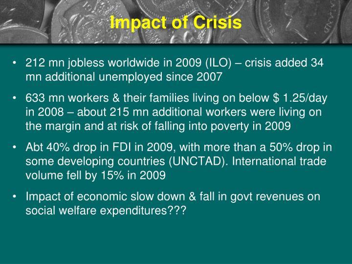 Impact of Crisis